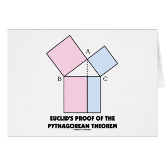 Euclid's Proof Of The Pythagorean Theorem Card