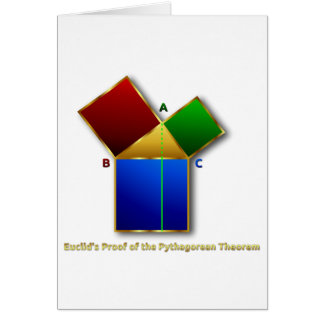 Euclid's Proof of the Pythagorean Theorem. Greeting Card