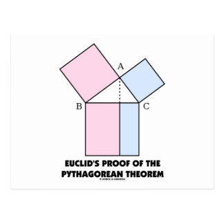 Euclid's Proof Of The Pythagorean Theorem Postcard