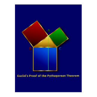 Euclid's Proof of the Pythagorean Theorem. Postcard