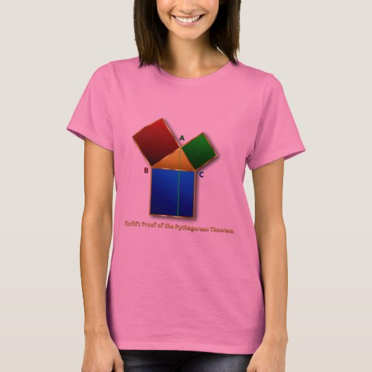 Euclid's Proof of the Pythagorean Theorem. T-Shirt