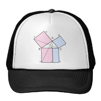 Euclid's proof of the pythagorean theorem trucker hat