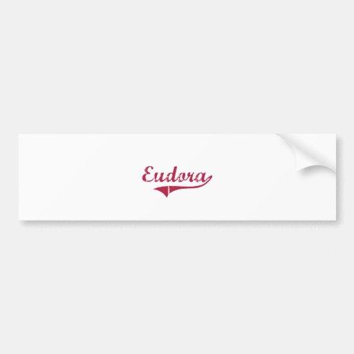 Eudora Arkansas Classic Design Car Bumper Sticker