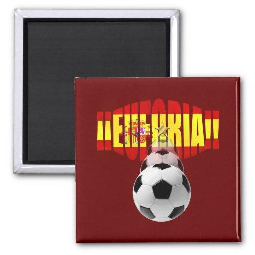 Euforia ! España Campeona Del Mundo 2 Inch Square Magnet