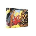 Eugène Henri Paul Gauguin - Two Women From Tahiti Canvas Print