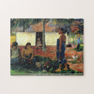 Eugène Henri Paul Gauguin - Whya are you Angry Puzzle
