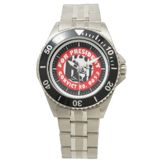 Eugen Debs For President campaign button Wristwatch
