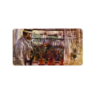 Eugen Manet a I'lle de Wright by Berthe Morisot Personalized Address Labels