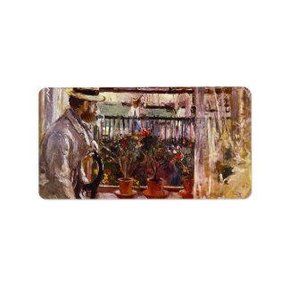Eugen Manet un I'lle de Wright de Berthe Morisot Etiquetas De Dirección