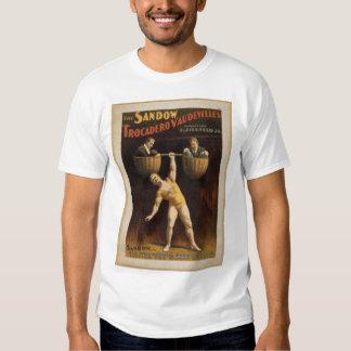 Eugen Sandow - acto humano del Barbell - camisa