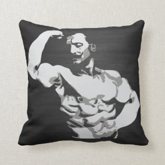Eugen Sandow Bicep Flex - Bodybuilding Throw Pillow