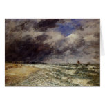 Eugene Boudin- A Squall from Northwest Greeting Card