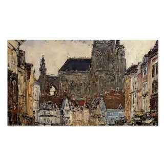 Eugene Boudin- Abbeville, Street and the Church Business Cards