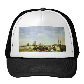 Eugene Boudin Beach At Trouville Mesh Hat