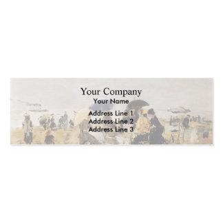 Eugene Boudin- Beach Scene Business Card Template