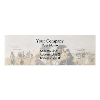 Eugene Boudin- Beach Scene Double-Sided Mini Business Cards (Pack Of 20)