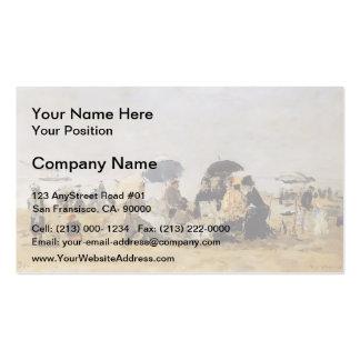 Eugene Boudin- Beach Scene Double-Sided Standard Business Cards (Pack Of 100)
