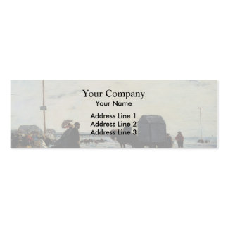 Eugene Boudin- Beach Scene, Trouville Double-Sided Mini Business Cards (Pack Of 20)