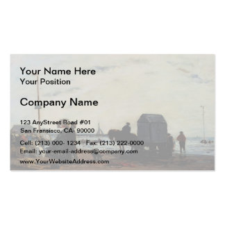 Eugene Boudin- Beach Scene, Trouville Double-Sided Standard Business Cards (Pack Of 100)