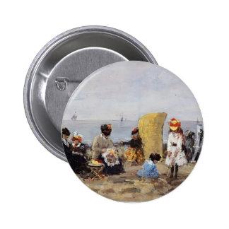 Eugene Boudin- Beach Scene, Trouville Buttons