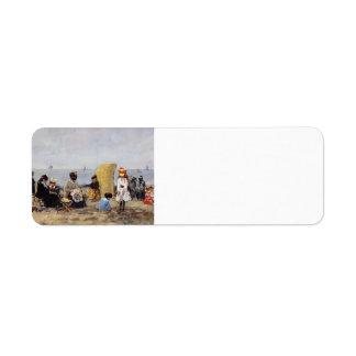 Eugene Boudin- Beach Scene, Trouville Return Address Label