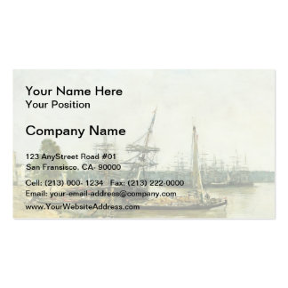 Eugene Boudin- Bordeaux Double-Sided Standard Business Cards (Pack Of 100)