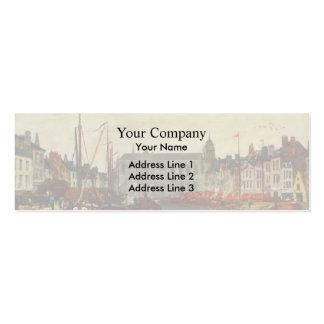Eugene Boudin- Channel in Brussels Business Card