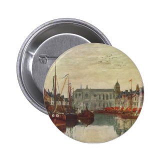 Eugene Boudin- Channel in Brussels Buttons