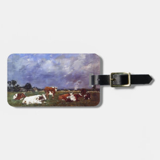 Eugene Boudin- Cows in the Pasture Tags For Bags