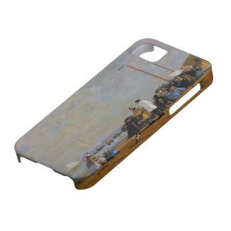 Eugene Boudin- Crinolines on the Beach iPhone 5 Cover