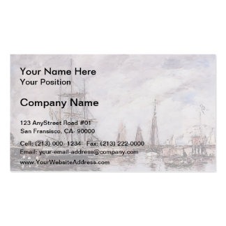 Eugene Boudin- Deauville, Norwegian Three-Master Double-Sided Standard Business Cards (Pack Of 100)