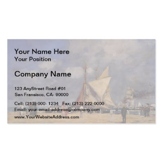 Eugene Boudin- Deauville, on the Jetty Double-Sided Standard Business Cards (Pack Of 100)
