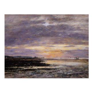 Eugene Boudin- Deauville, puesta del sol en la pla Postal