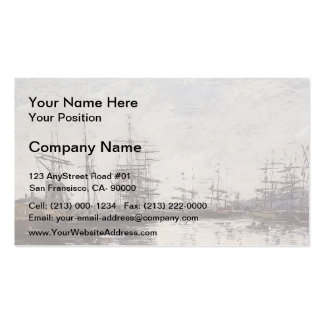 Eugene Boudin- Deauville, the Harbor Double-Sided Standard Business Cards (Pack Of 100)