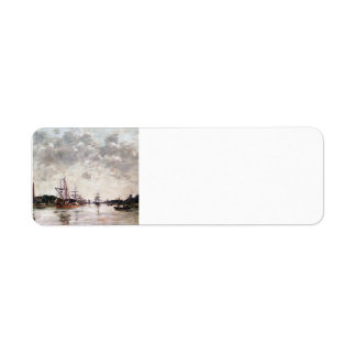 Eugene Boudin- Dordrecht, La Meuse, Swandrecht Return Address Label