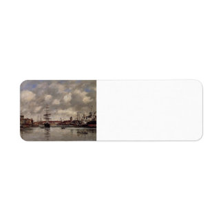 Eugene Boudin: Dunkirk, the Holland Basin Return Address Labels
