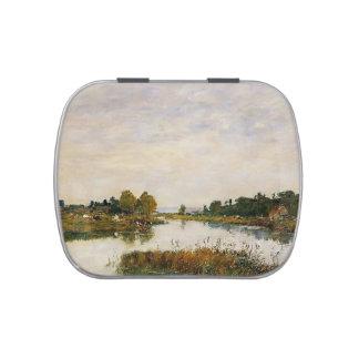 Eugene Boudin- el río inmóvil en Deauville Latas De Dulces