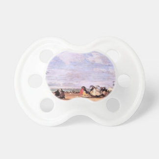 Eugene Boudin- Empress Eugenie on the beach Baby Pacifiers