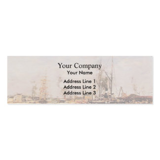 Eugene Boudin- Entrance to the Port of Le Havre Business Cards