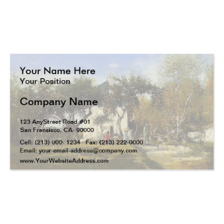Eugene Boudin-Fervaques,Garden,House of Monsieur Business Card Template
