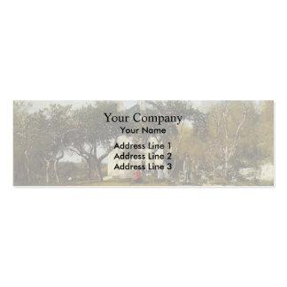 Eugene Boudin-Fervaques,Garden,House of Monsieur Business Card