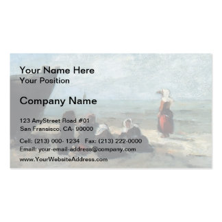 Eugene Boudin- Fisherwives Waiting for the Boats Double-Sided Standard Business Cards (Pack Of 100)