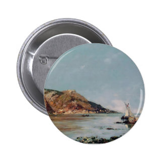 Eugene Boudin- Fourmis Bay Beaulieu Pinback Button