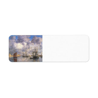 Eugene Boudin- Harbour at Camaret Custom Return Address Label