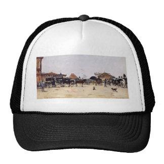 Eugene Boudin- La Place de la Gare a Deauville Hats