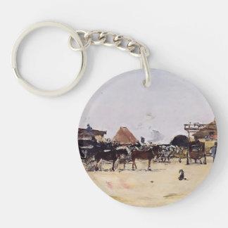 Eugene Boudin- La Place de la Gare a Deauville Acrylic Keychains