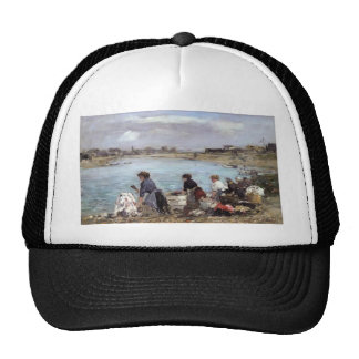 Eugene Boudin- Laundresses on Banks of the Touques Trucker Hats