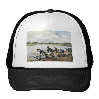 Eugene Boudin- Laundresses on the Banks of Touques Trucker Hats