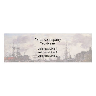 Eugene Boudin- Le Havre. Barre Basin. Business Card