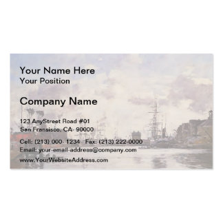 Eugene Boudin- Le Havre. Barre Basin. Double-Sided Standard Business Cards (Pack Of 100)